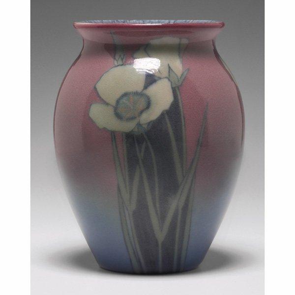1207: Rookwood vase, Porcelain glaze, Kataro Shirayamad