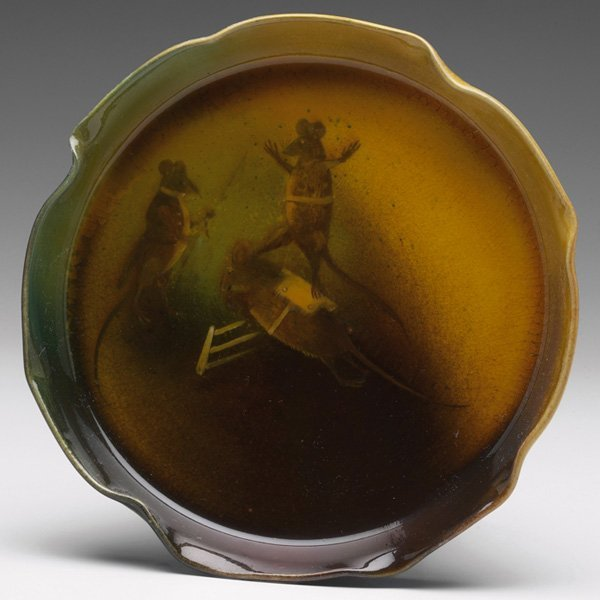 1214: Rookwood plate, Standard glaze, William McDonald