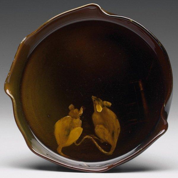 1216: Rookwood plate, Standard glaze, Sallie Toohey