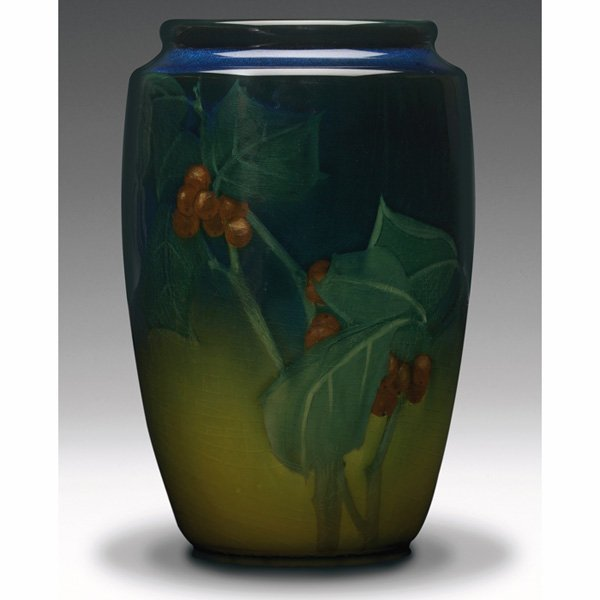 1223: Rookwood vase,  Sea Green glaze, Sallie Coyne