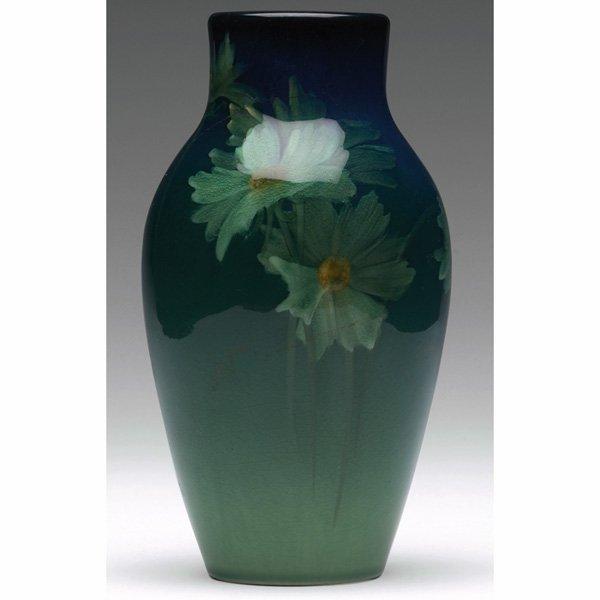 1225: Rookwood vase, Sea Green glaze, Sara Sax