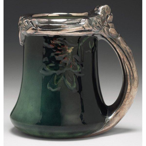 1226: Rookwood handled vessel, Sea Green glaze, E.T. Hu