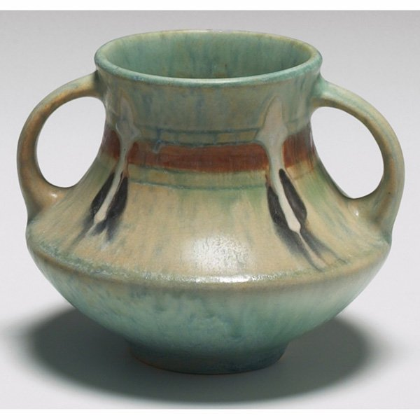1524: Roseville Montacello vase, double handled
