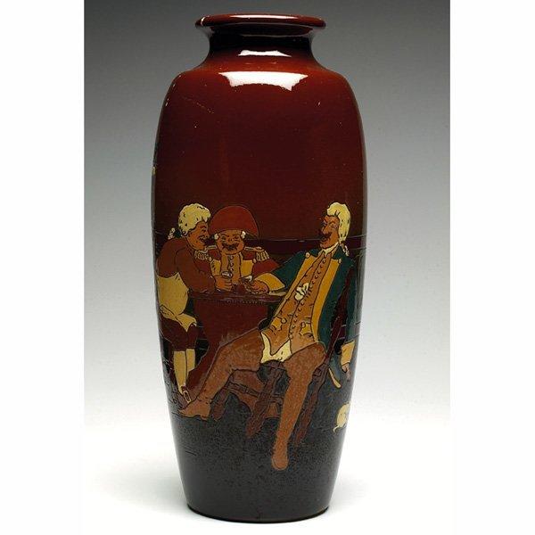 1536: Weller Dickensware vase, tavern scene