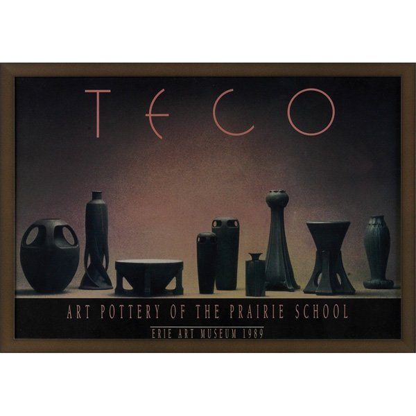 2: Teco exhibition poster, Art Pottery of the Prairie S