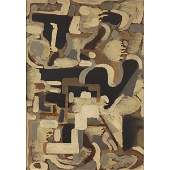 791 Mildred Lucile Crooks  Abstract c 1955 oil