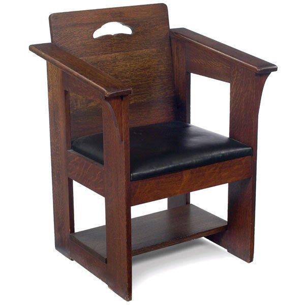 3: Limbert café chair, #500, Mackintosh influence