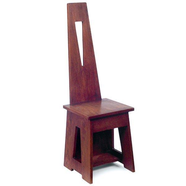 4: Limbert hall chair, #81, dramatic design