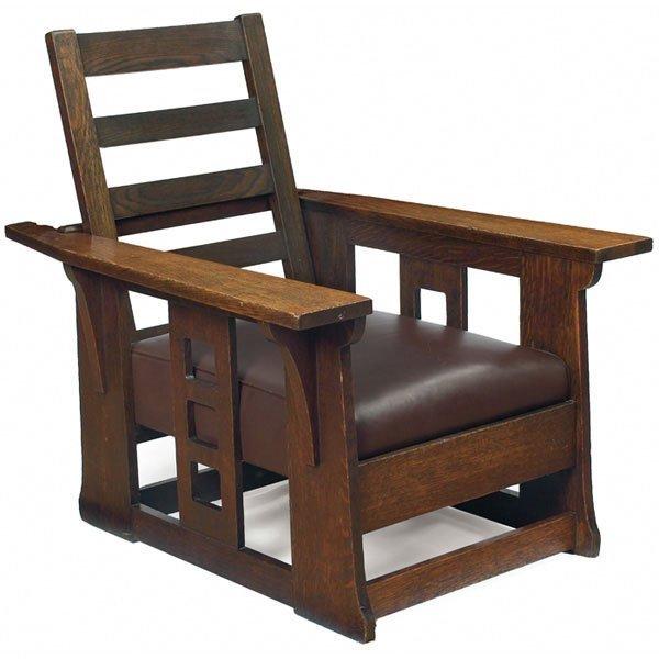 15: Limbert Morris chair, #521, flat-arm form