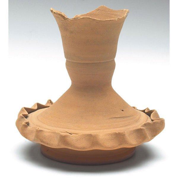 16: George Ohr vase, manipulated organic form