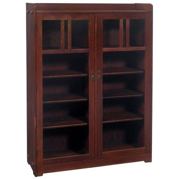 21: Stickley & Brandt bookcase, two-door form