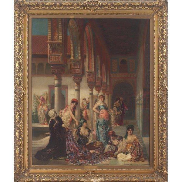 551: Edouard Frédéric Wilhelm Richter, oil on canvas