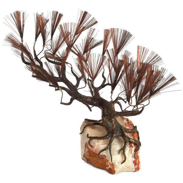 874: C. Jere Lone Cypress sculpture Artisan House label