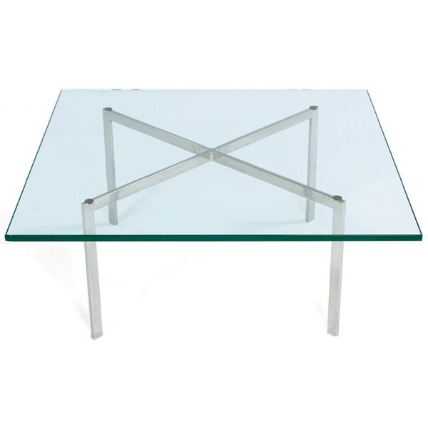 998: Mies van der Rohe Barcelona table Knoll signed