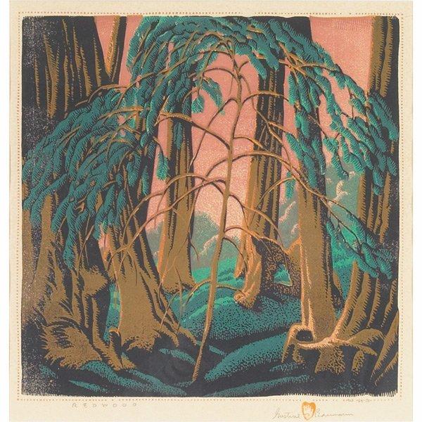 1: Gustave Baumann woodblock,
