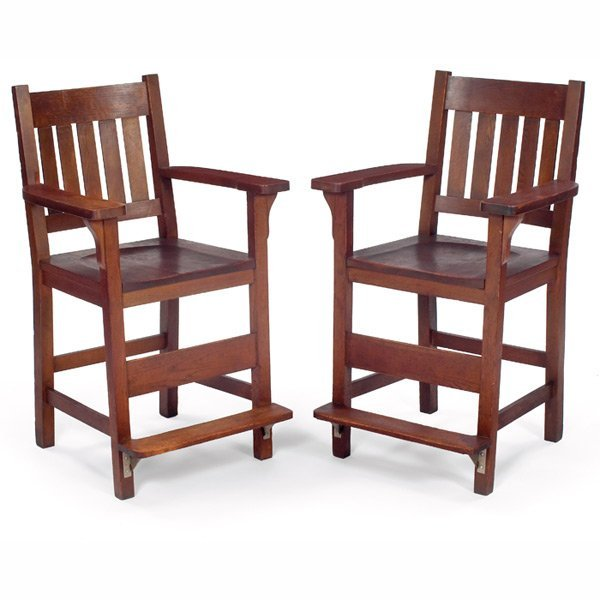 4: Arts & Crafts billiard chairs,