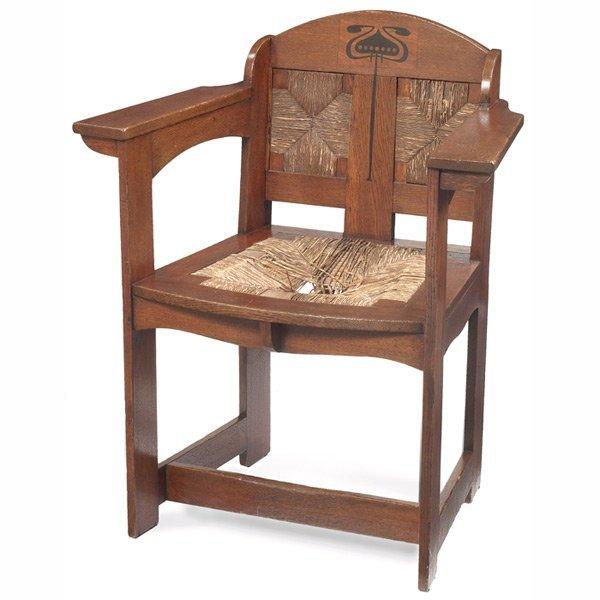 10: Liberty & Co. armchair, inlaid