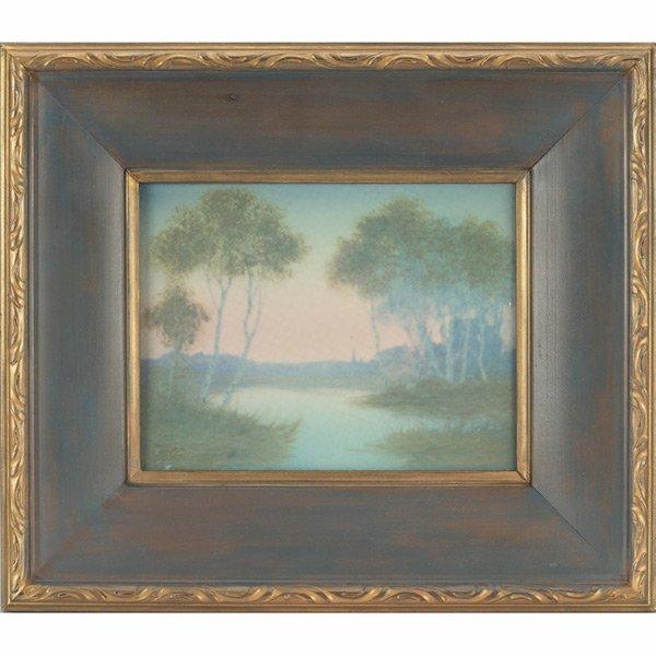 11: Rookwood plaque, Vellum glaze E.T. Hurley