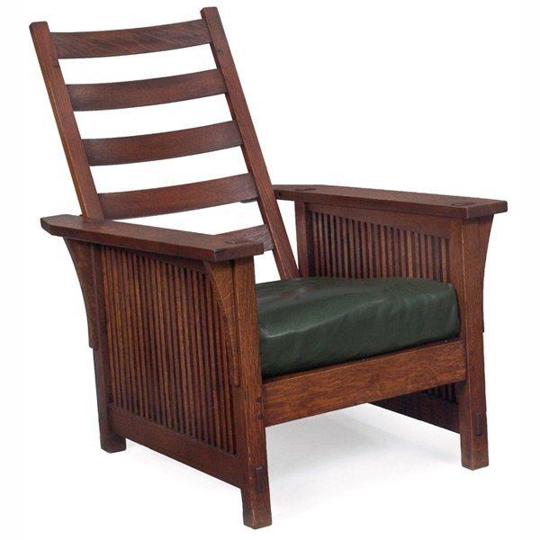 13: Gustav Stickley Morris chair, #367,