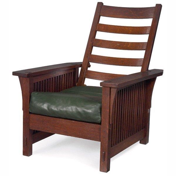 14: Gustav Stickley Morris chair, # 369