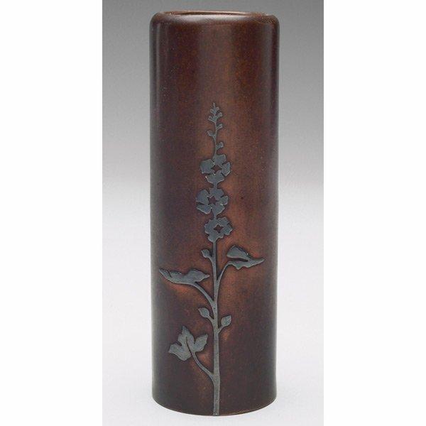 21: Heintz vase, sterling on bronze