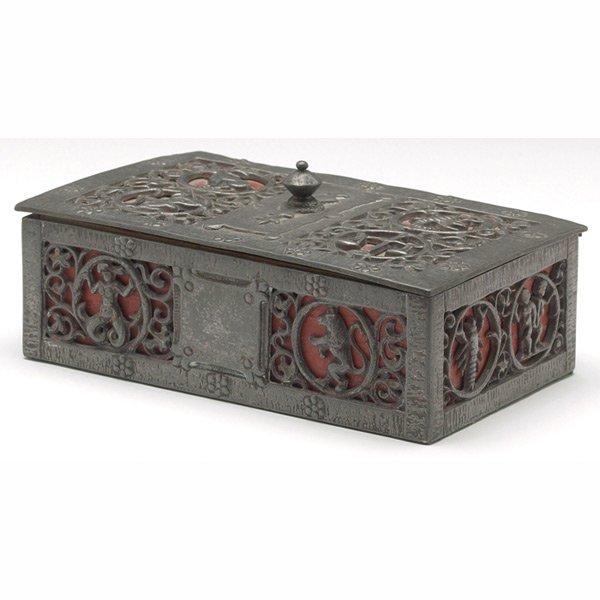 22: Oscar Bach box, pewter with Zodiac designs