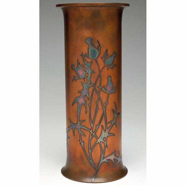 24: Heintz vase, sterling on bronze