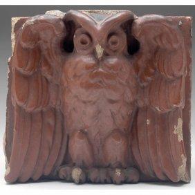 Rookwood Faience Tile, Owl Design