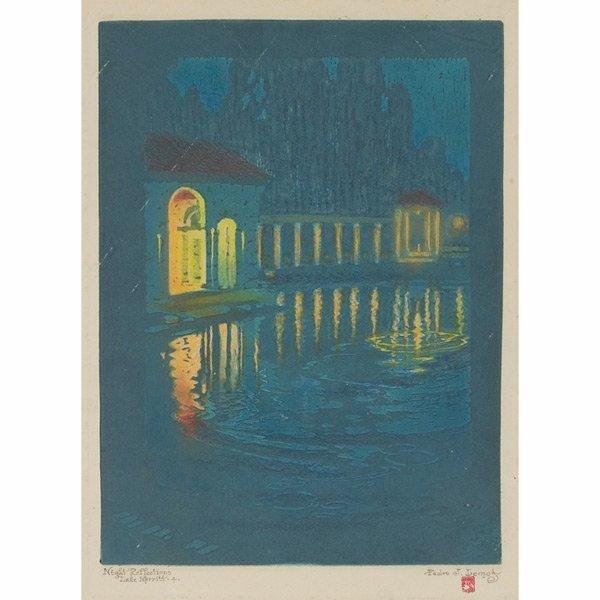 """184: Pedro J. De Lemos (American, 1882-1954) """"Night Ref"""
