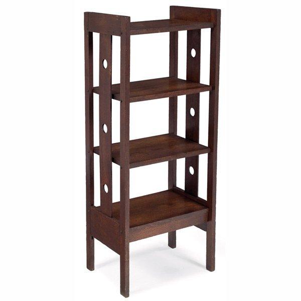 193: Arts & Crafts magazine stand, four shelves