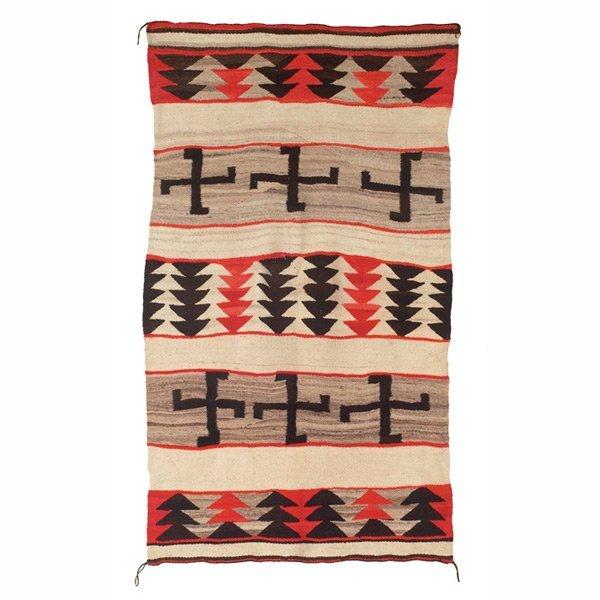 310: Navajo rug, c. 1910, wool on cotton
