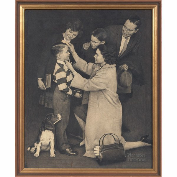 643: Norman Percevel Rockwell The First Day of School