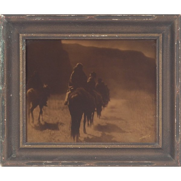 "2: Edward Sheriff Curtis orotone, ""The Vanishing Race -"