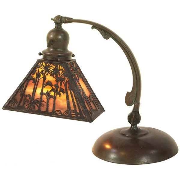 6: Handel desk lamp, palm tree design