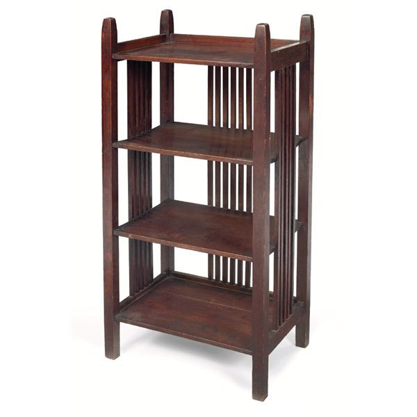 7: Gustav Stickley magazine stand, similar to #674
