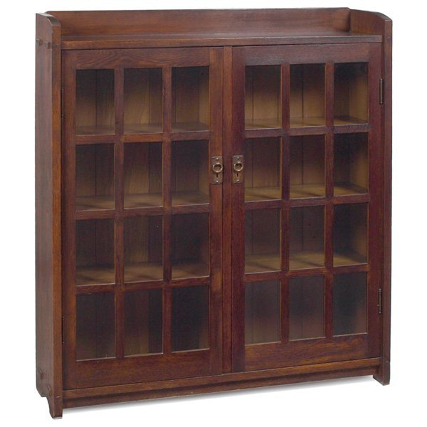 13: Gustav Stickley bookcase, #717