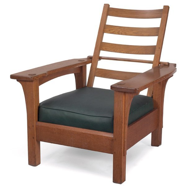 14: L & JG Stickley Morris chair, #412