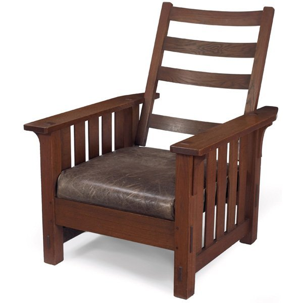 15: L & JG Stickley Morris chair, #497