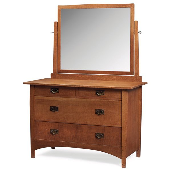 16: Gustav Stickley dresser with mirror, #911