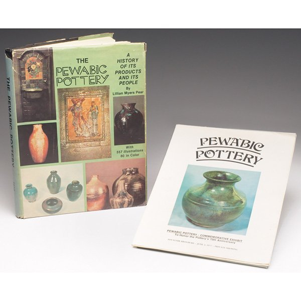 18: Pewabic books, lot of two