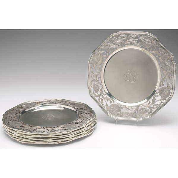 298: Gorham plates, set of eleven, sterling silver