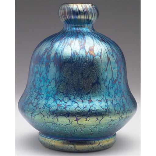 458 Loetz Papillon Vase Double Gourd Shape In Cobalt