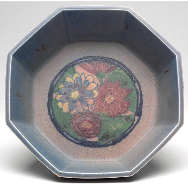 3: Rookwood bowl, painted floral Elizabeth Lincoln