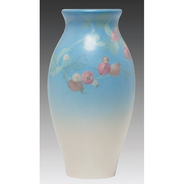 6: Rookwood vase, Vellum glaze by Fred Rothenbusch