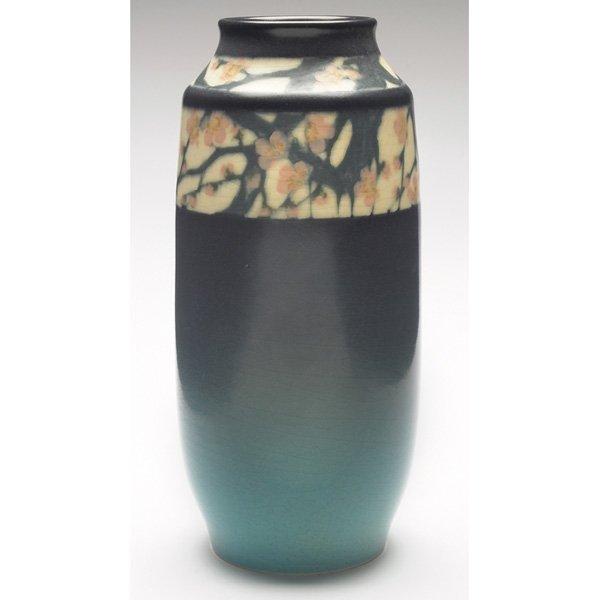 9: Rookwood vase, Vellum glaze  E.T. Hurley