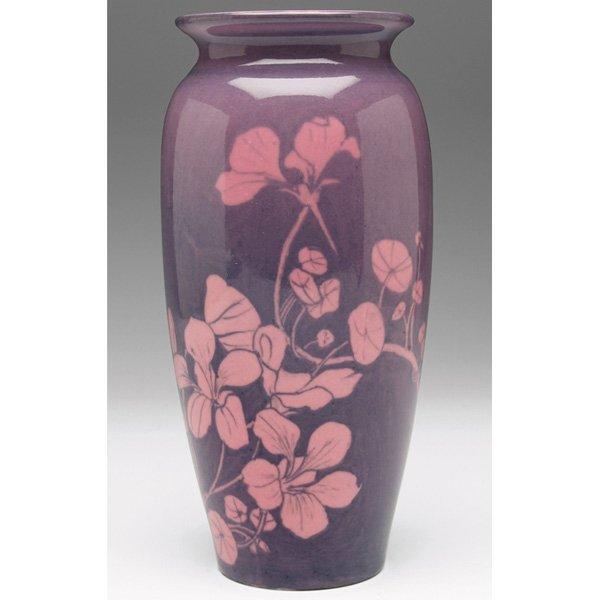 12: Rookwood vase, Pink Tinted glaze Sallie Coyne