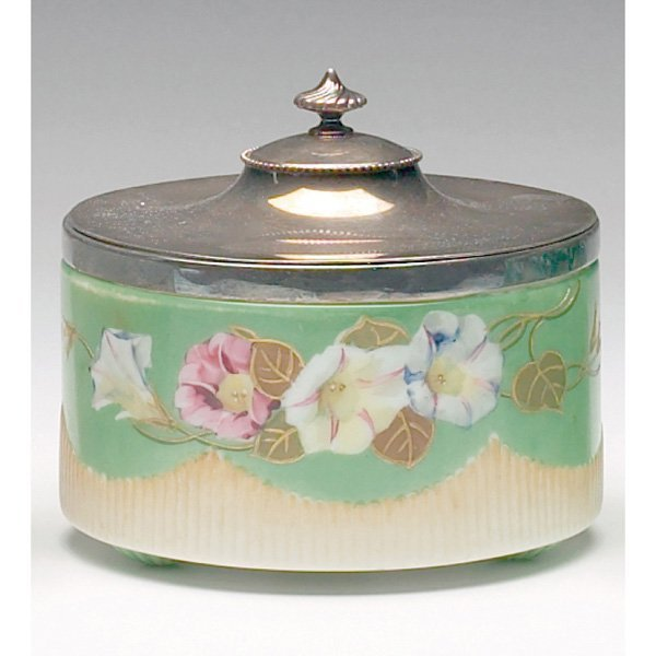 1222: Victorian biscuit jar, morning glories