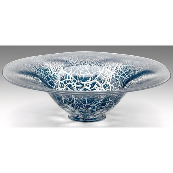 1353: Leerdam bowl, broad form in clear