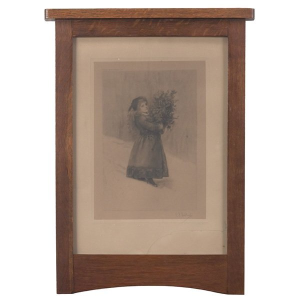16: L & JG Stickley frame, Leopold Stickley