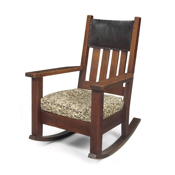 17: Arts & Crafts rocker, manufactured by Oak Craft